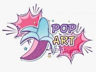 波普艺术有趣的彩色漫画