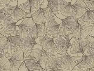 银杏复古色彩无缝模式矢量