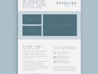 简单的业务手册传单设计模板