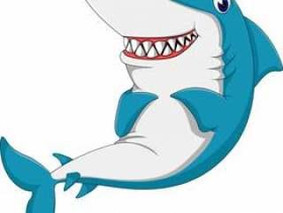 可爱的鲨鱼卡通