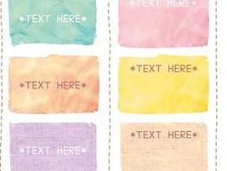 可以用于标题的日本式水彩框架
