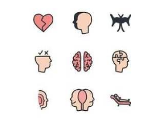 多彩的心理学家图标