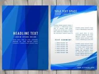 蓝色抽象宣传册传单设计插图