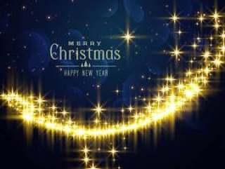 节日闪烁背景圣诞季节