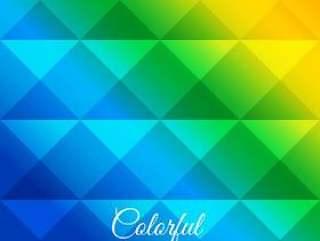 多彩的菱形图案海报矢量设计插画