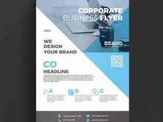 蓝色公司业务传单模板