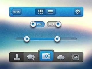 手机指示图标PSD素材