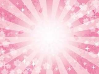 集中的线效果线闪闪发光的闪闪发光的星星花朵春天的花朵背景