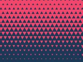 红色和蓝色抽象三角背景