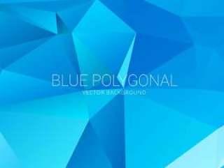 抽象的蓝色三角背景