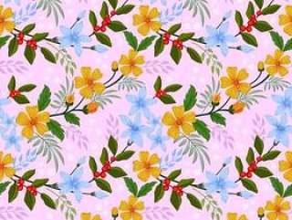 织物纺织品的花传染媒介设计无缝的样式
