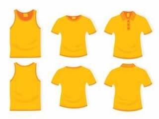 黄色的衣服平面设计模板