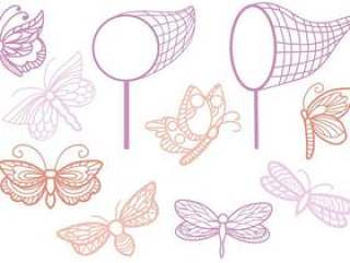 的蝴蝶向量