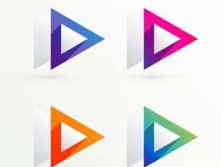 优雅的三角形符号横幅集