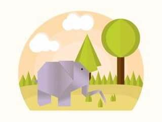 折纸动物矢量
