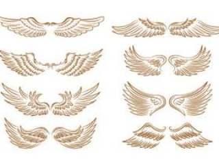 套天使的翅膀图标