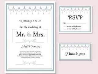 婚礼卡片设置矢量