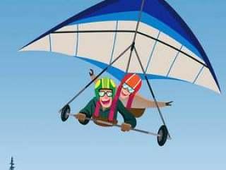 双人吊滑翔机