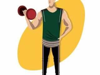 时尚健身教练的人