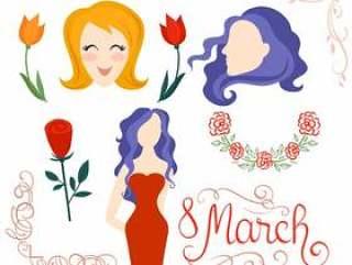 国际妇女节的向量