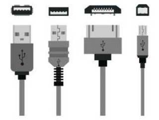 一套USB端口图标