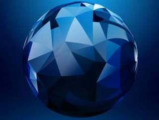用几何形状矢量设计插画的3d球形