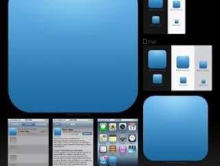 苹果应用图标模板PSD分层素材