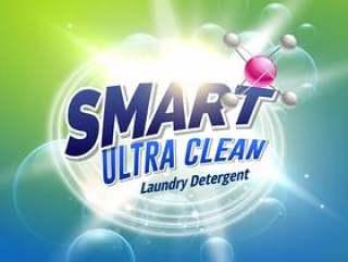 产品包装的洗衣店洗涤剂广告构思设计