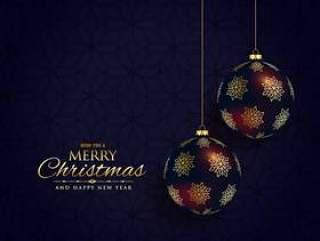 豪华黑暗圣诞节节日背景设计