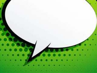 在绿色背景的可笑的闲谈泡影与半音作用