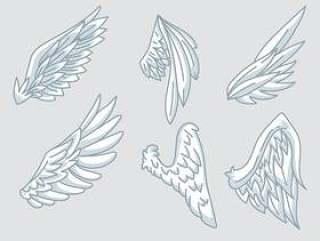 天使的翅膀矢量图标