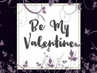 做我的情人节花卉背景