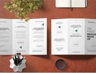 三部合成的小册子或邀请大模型静物画概念