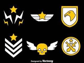 黑色矢量军事徽章