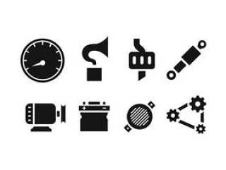 汽车备件图标