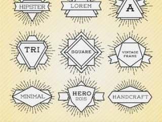 老式的线框和标签与森伯斯特的一套。时髦bor