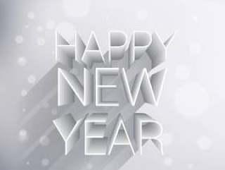 创意3d新年快乐设计
