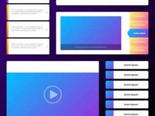 基本网站界面原型平面和线框图标