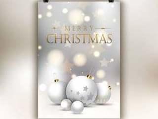 圣诞节传单背景