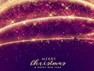 豪华闪闪发光圣诞快乐节日季节性背景