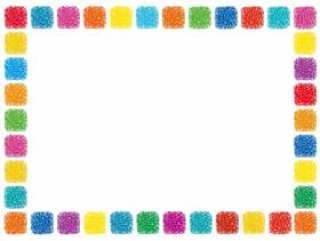 手写的方形点框架框架装饰简单