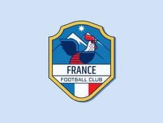 法国足球徽章矢量