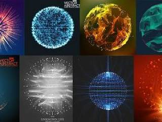 25款科技粒子图形矢量素材打包下载
