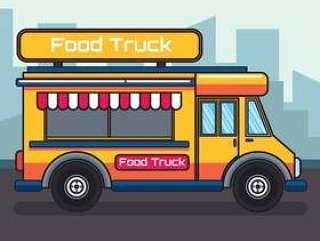 食物卡车例证