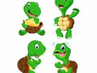 一群乌龟卡通