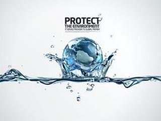 水之创意系列PSD分层素材