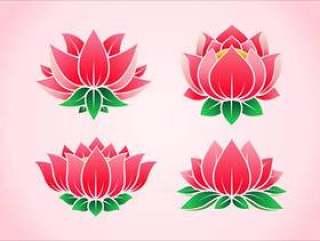 粉红色的莲花花载体