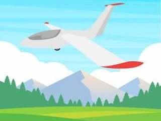 在蓝天例证的滑翔机