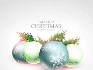 美丽的圣诞快乐节日问候与圣诞节背景