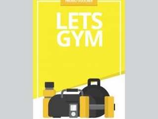 健身房体育和健康传单模板